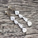 LEAVES INSPIRATION SILVER EARRINGS