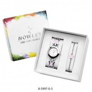 WATCH AND BRACELET NOWLEY WITH BUTTERFLIES
