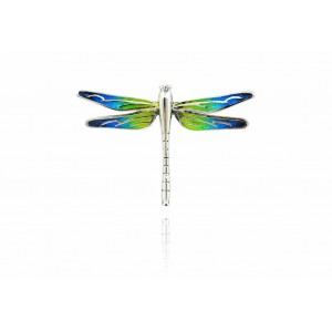 GREEN AND BLUE DRAGON-FLY PENDANT