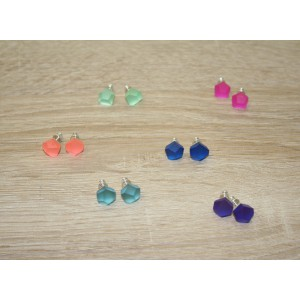 FRUIT BIJOUX COLOUR 8MM EARRINGS