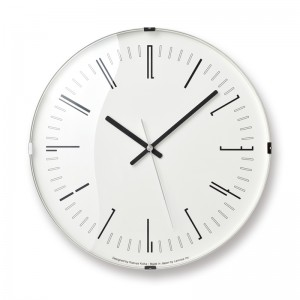 DRAW DOME WALL CLOCK BY LEMNOS WITH BLACK NUMBERS