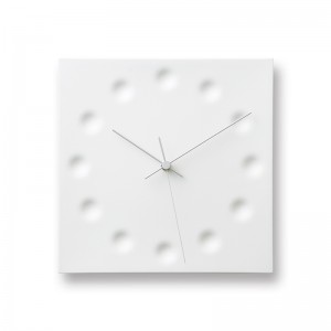 DRAW DOME WALL CLOCK BY LEMNOS WITH RED NUMBERS