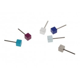 APERO 4mm CUBE EARRINGS