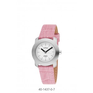 POTENS WATCH WITH PINK LEATHER STRAP