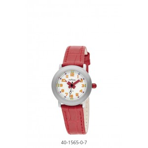 POTENS WATCH WITH RED LEATHER STRAP FOR KIDS
