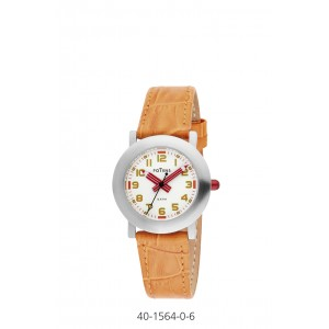 POTENS WATCH WITH ORNAGE LEATHER STRAP FOR KIDS