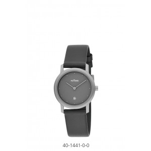 TITANIUM POTENS WATCH WITH LEATHER STRAP