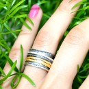 SILVER AND GOLD EVASTONE 5 RINGS