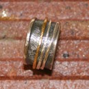 SILVER AND GOLD EVASTONE 4 RINGS