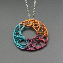 PAINTED SILVER PENDANT BY MARTA GALLART