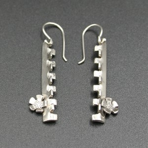 1968 INSPIRATED SILVER EARRINGS